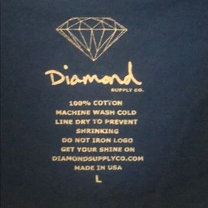 Diamond supply co blue T-shirt with logo